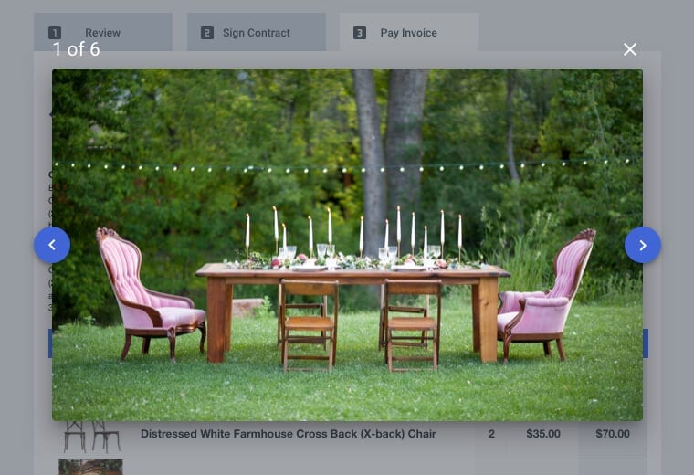 Photo-driven proposals for rental companies in Goodshuffle Pro
