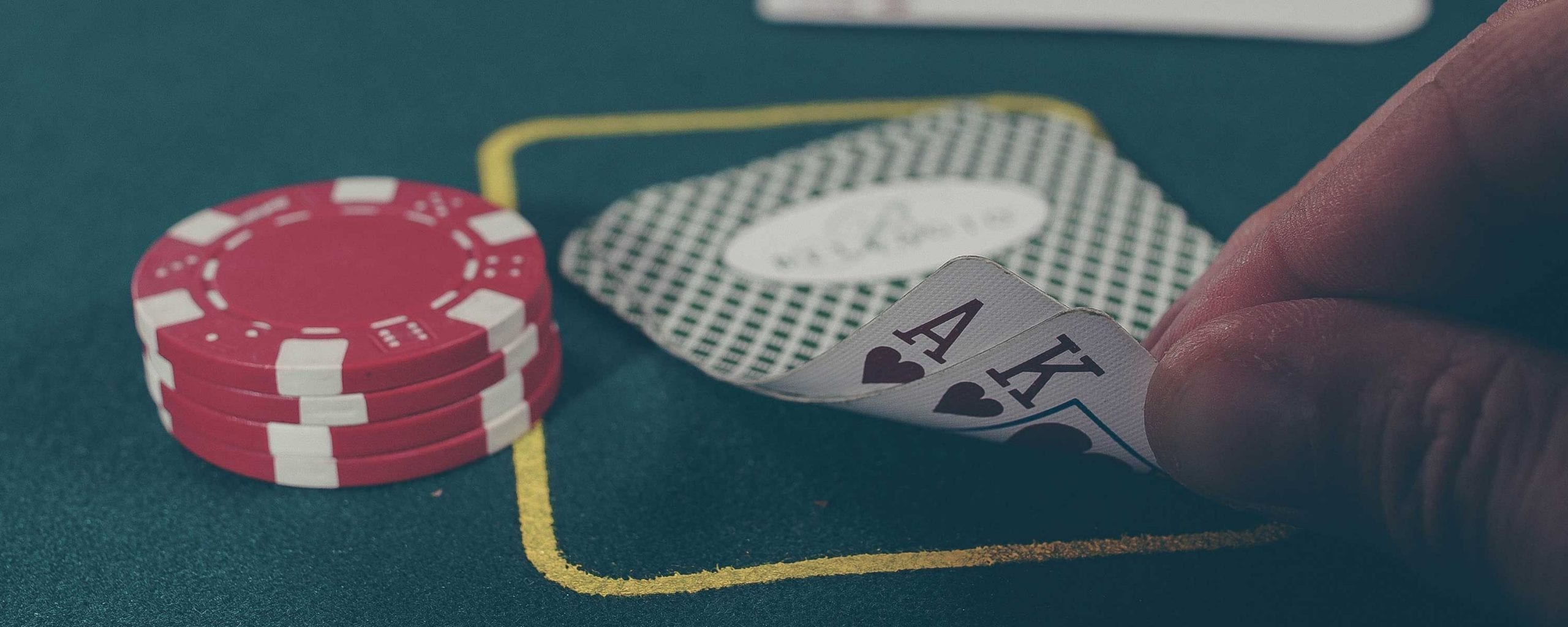 Casino party game at an event