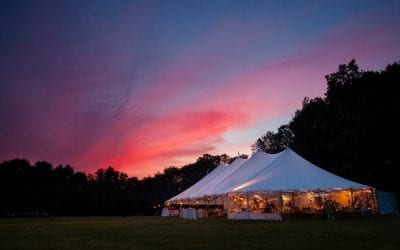 Tent rentals at outdoor event