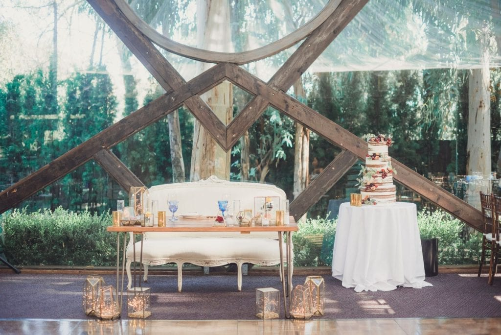 How Educating Your Clients Makes for Better Sales. Beautiful wedding cake and vintage sofa.