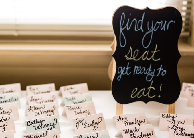 calligraphy on escort cards. how to actually enjoy the event planning process.
