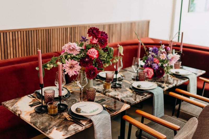 event decor and design with florals