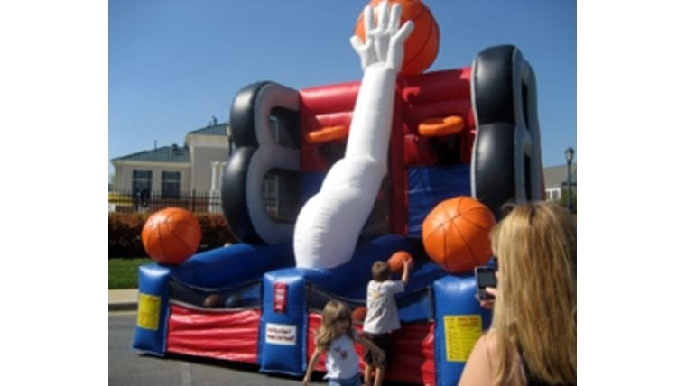 inflatable basketball game for a boy's or girl's birthday party