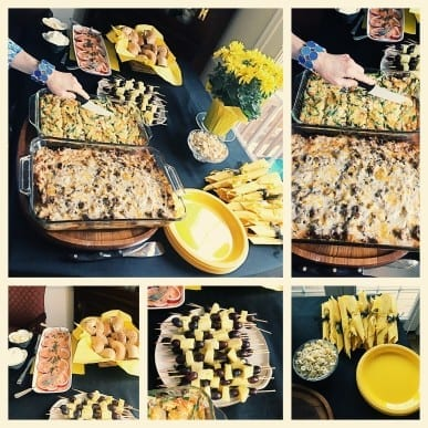 Bee-themed bridal shower food and drink