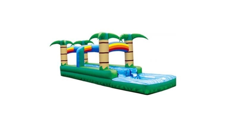 Tropical themed slip and slide for a fun outdoor event