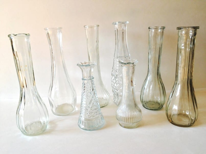 vintage glassware for event rentals