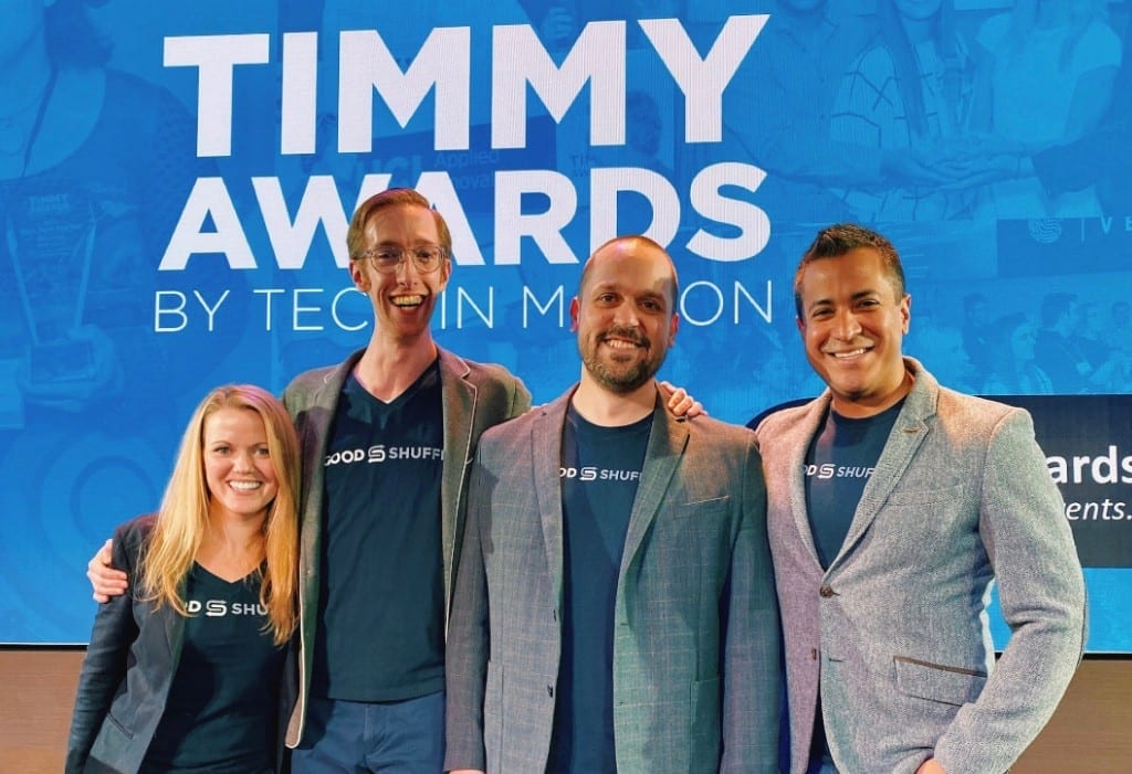 Timmy Awards nomination best tech startup Goodshuffle Pro team