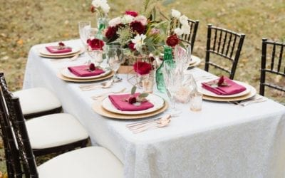 event rentals and decorated tabletop and venue partnership