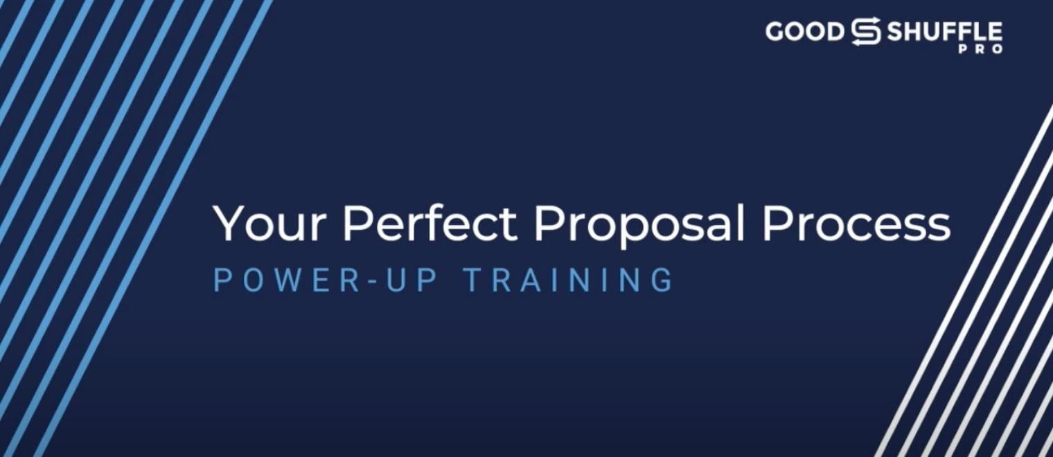 Perfect event proposal process