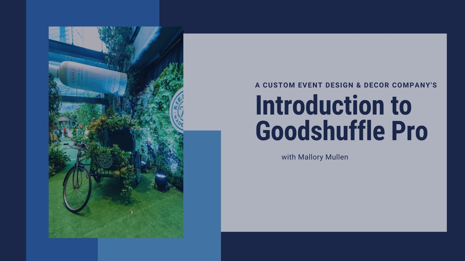 Introduction to Goodshuffle Pro for event design and decor companies
