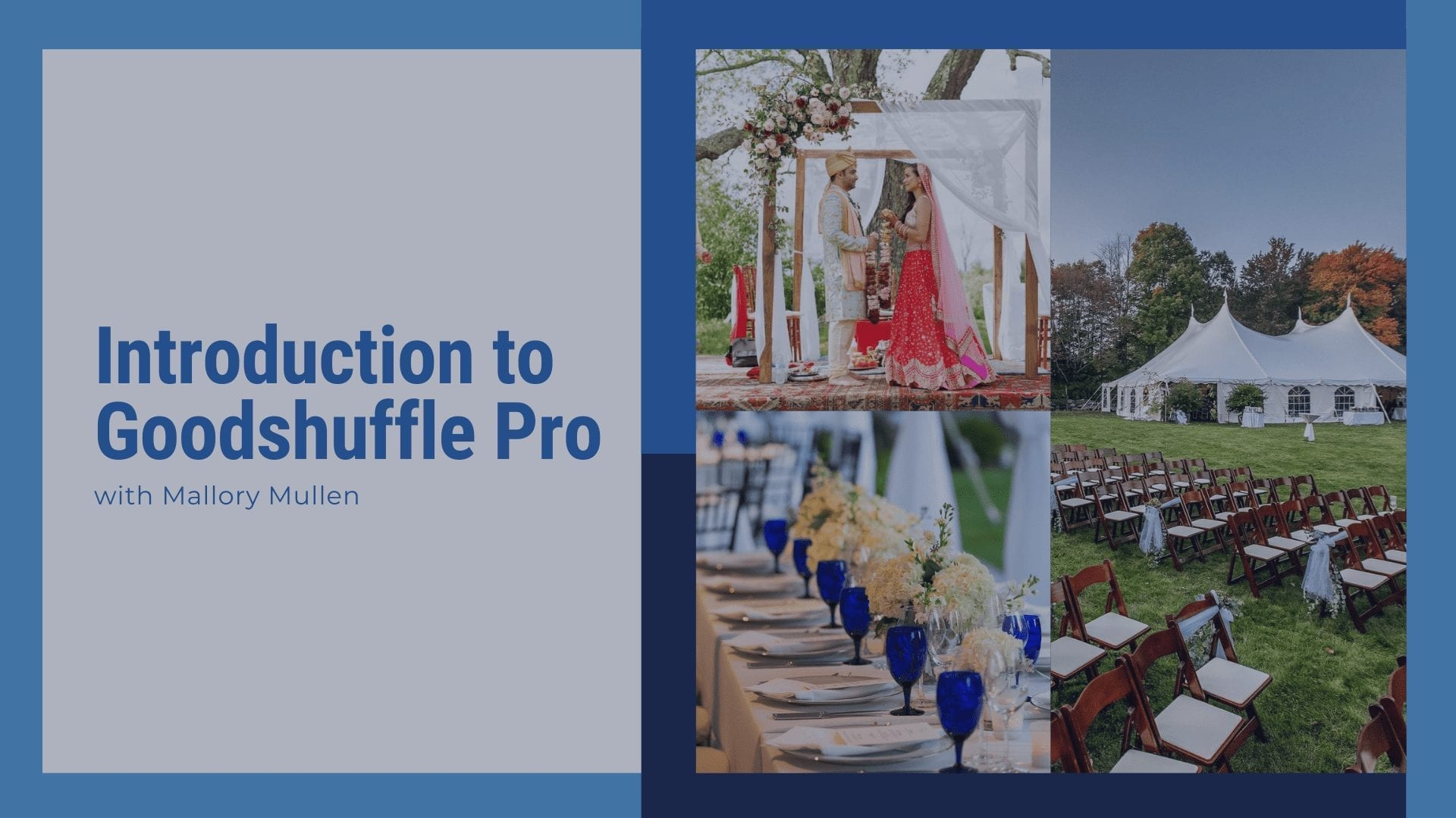 Introduction to Goodshuffle Pro for event rental companies