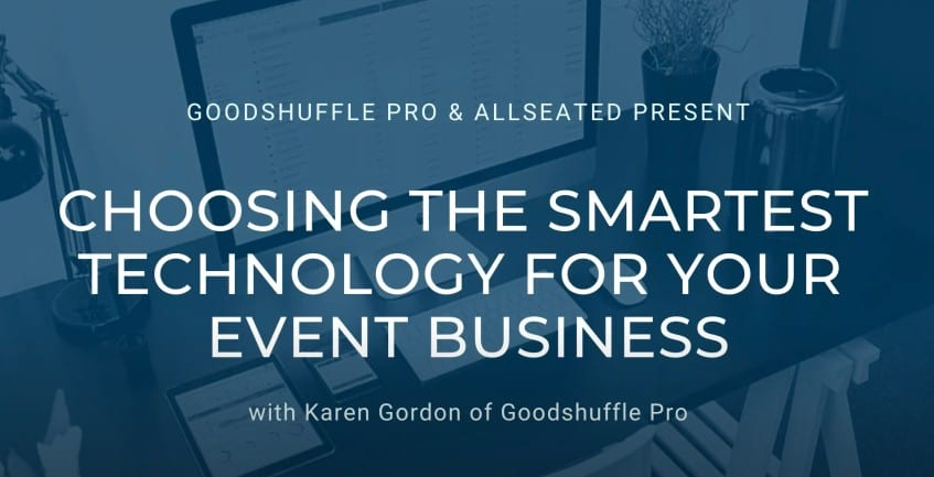 Choosing the smartest technology for your event business webinar
