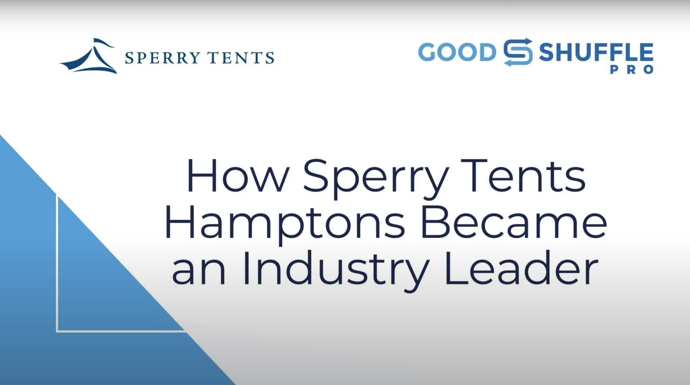 How Sperry Tents Hamptons Became an Industry Leader webinar