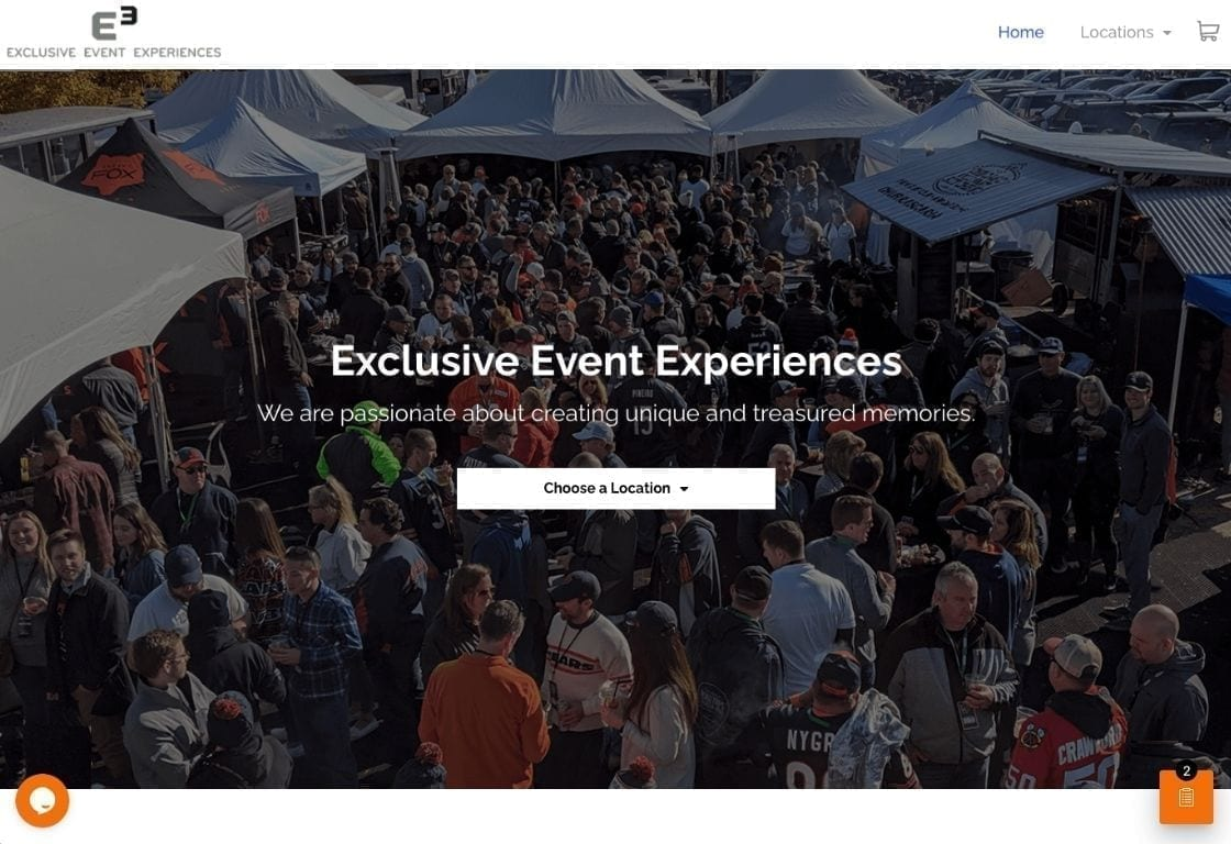 Exclusive Event Experiences, tailgate rentals with website wishlist